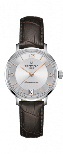 Certina C035.207.16.037.01 : DS Caimano Powermatic 80 Stainless Steel / Silver / Strap