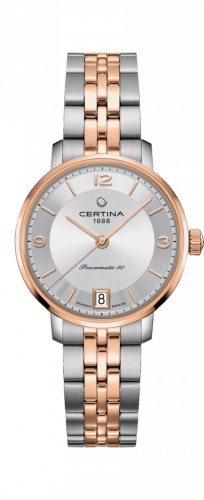 Certina C035.207.22.037.01 : DS Caimano Powermatic 80 Stainless Steel / Rose Gold PVD / Silver / Bracelet