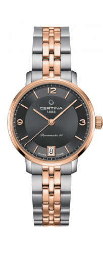 Certina C035.207.22.087.01 : DS Caimano Powermatic 80 Stainless Steel / Rose Gold PVD / Grey / Bracelet