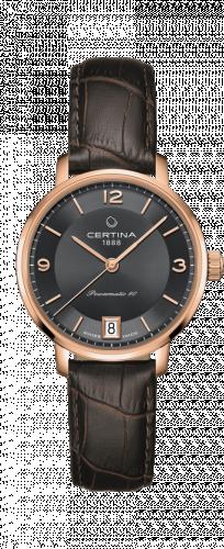 Certina C035.207.36.087.00 : DS Caimano Powermatic 80 Rose Gold PVD / Grey / Strap