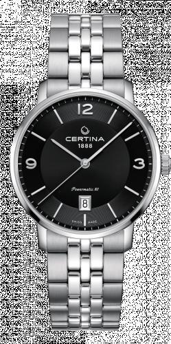 Certina C035.407.11.057.00 : DS Caimano Powermatic 80 Stainless Steel / Black / Bracelet