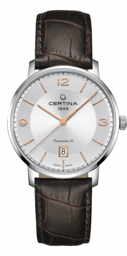 Certina C035.407.16.037.01 : DS Caimano Powermatic 80 Stainless Steel / Silver / Strap