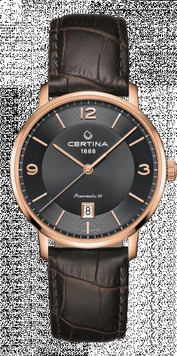 Certina C035.407.36.087.00 : DS Caimano Powermatic 80 Rose Gold PVD / Grey / Strap