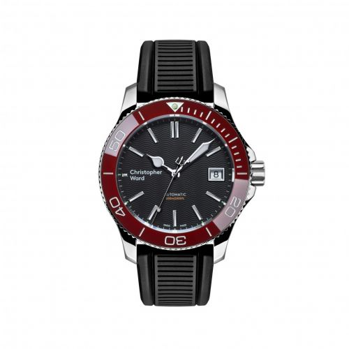 Christopher Ward C60-38ADA2-S0RK0-RK : C60 Trident Pro 600 38MM Stainless Steel / Black / Red / Rubber