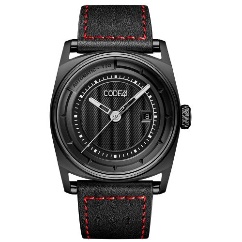 CODE41 AN02-BK-ST-LEA-COU-SP : Anomaly-02 Black PVD / Black