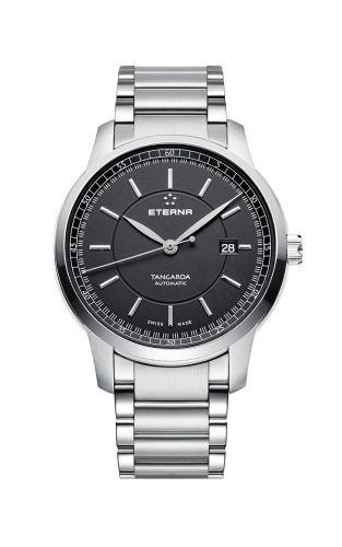 Eterna 2948.41.41.0277 : Tangaroa Three-Hands Black / Bracelet