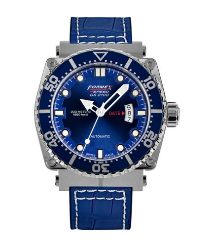 Formex 2100.1.7030.243 : Diver Automatic Blue / Croco