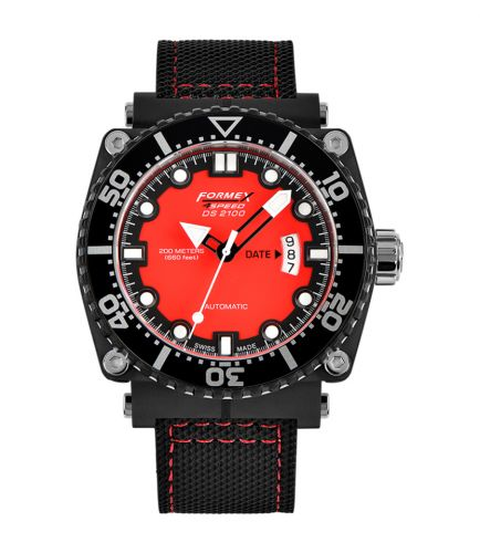 Formex 2100.9.7074.216 : Diver Automatic Red / Calf