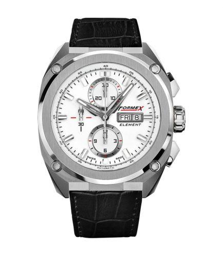 Formex 1200.1.8011.311 : Element Automatic Chronograph Full Steel / White / Croco