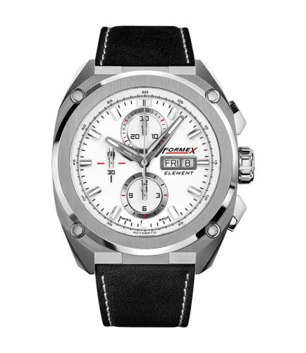 Formex 1200.1.8011.713 : Element Automatic Chronograph Full Steel / White / Calf