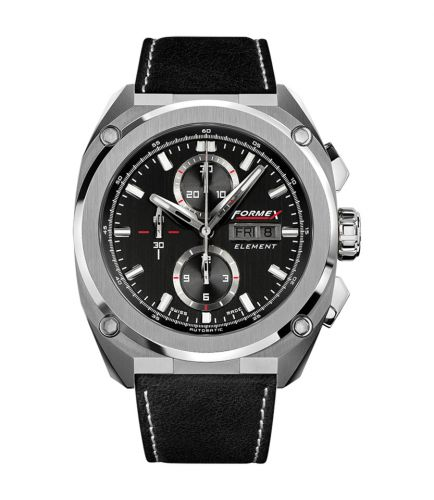 Formex 1200.1.8021.322 : Element Automatic Chronograph Full Steel / Black / Calf