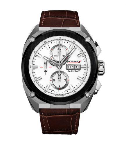 Formex 1200.5.8017.322 : Element Automatic Chronograph Ceramic Bezel / White / Croco