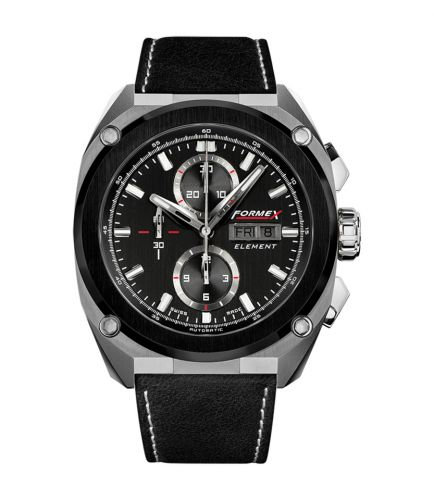 Formex 1200.5.8027.322 : Element Automatic Chronograph Ceramic Bezel / Black / Calf
