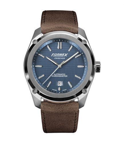 Formex 0330.1.6331.722 : Essence Automatic Chronometer Blue / Calf