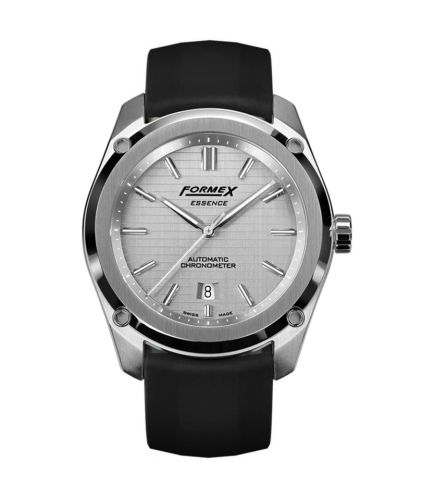 Formex 0330.1.6341.910 : Essence Automatic Chronometer Silver / Rubber