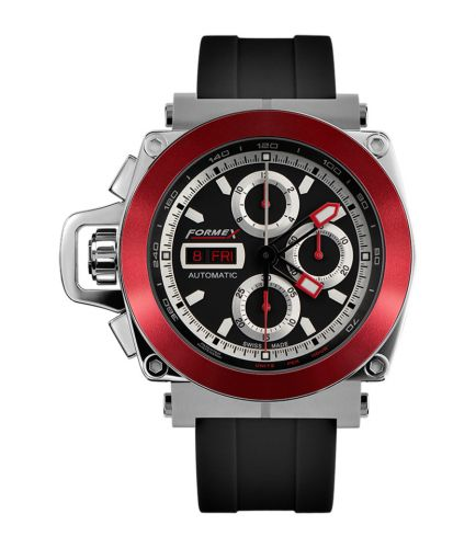 Formex 3100.1.8140.910 : Motorsport Automatic Chronograph Red Bezel / Black / Rubber