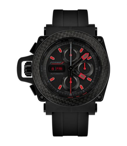 Formex 3100.9.8299.910 : Motorsport Automatic Chronograph PVD / Carbon Bezel / Black / Limited Edition / Rubber
