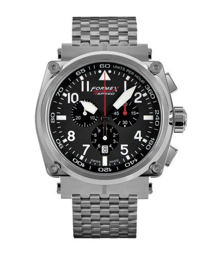 Formex 1100.1.3020.100 : Pilot Quartz Chronograph Black / Bracelet