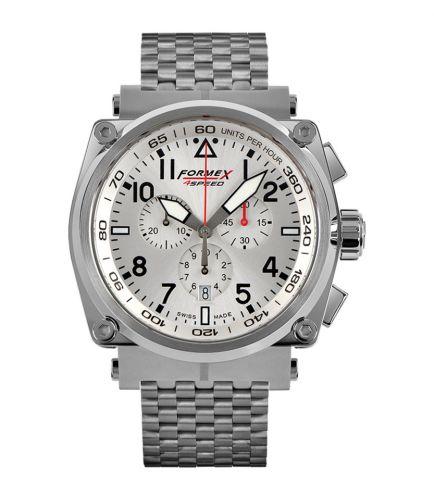Formex 1100.1.3040.100 : Pilot Quartz Chronograph Silver / Bracelet