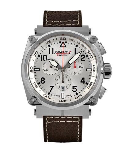 Formex 1100.1.3040.223 : Pilot Quartz Chronograph Silver / Calf