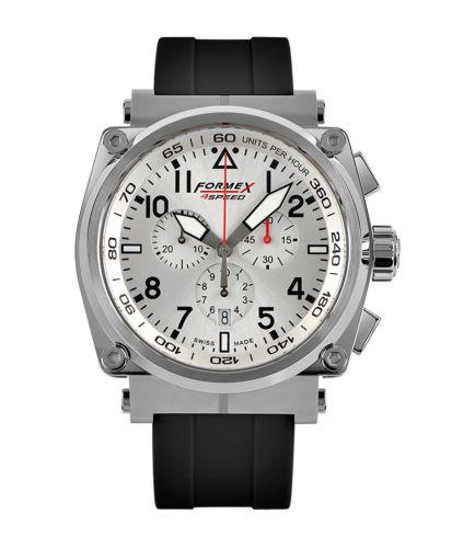 Formex 1100.1.3040.910 : Pilot Quartz Chronograph Silver / Rubber