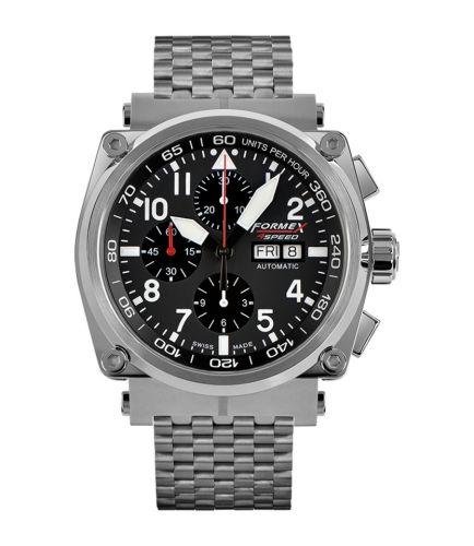 Formex 1100.1.8020.100 : Pilot Automatic Chronograph Black / Bracelet