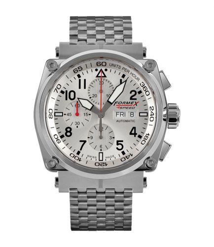 Formex 1100.1.8040.100 : Pilot Automatic Chronograph Silver / Bracelet