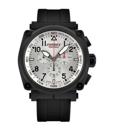 Formex 1100.4.3044.910 : Pilot Quartz Chronograph PVD / Silver / Rubber