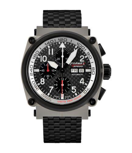 Formex 1100.5.8129.110 : Pilot Automatic Chronograph Sandblasted / Carbon Fibre / Bracelet