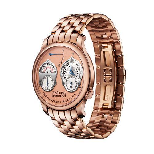 FP Journe 1499.3 CAR 40 RG PI BR : Souveraine Chronomètre à Résonance 40 Red Gold / Pink / Bracelet