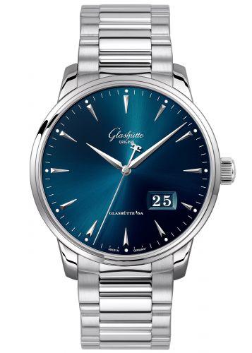 Glashütte Original 1-36-03-04-02-70 : Senator Excellence Panorama Date Stainless Steel / Blue / Bracelet
