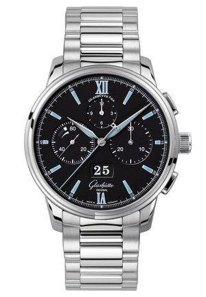 Glashütte Original 1-37-01-03-02-70 : Senator Chronograph Panorama Date Stainless Steel / Black / Bracelet