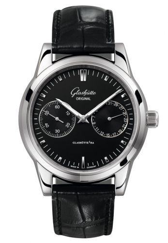 Glashütte Original 1-39-58-01-02-04 : Senator Hand Date Stainless Steel / Black / Alligator / Pin