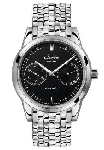 Glashütte Original 1-39-58-01-02-14 : Senator Hand Date Stainless Steel / Black / Bracelet