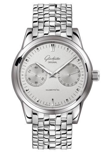 Glashütte Original 1-39-58-02-02-14 : Senator Hand Date Stainless Steel / Silver / Bracelet