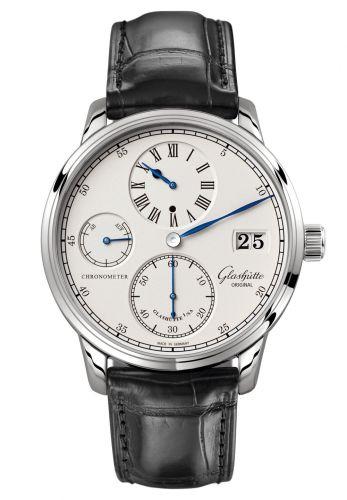 Glashütte Original 1-58-04-04-04-01 : Senator Chronometer Regulator White Gold / Silver / Alligator / Folding
