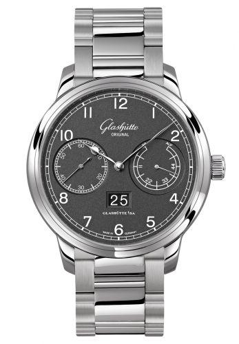 Glashütte Original 100-14-02-02-14 : Senator Observer Stainless Steel / Grey / Bracelet
