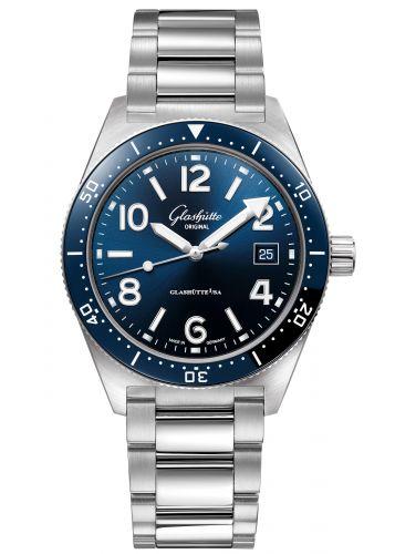 Glashütte Original 1-39-11-09-81-70 : SeaQ Date Stainless Steel / Blue / Bracelet