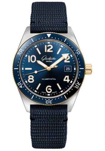 Glashütte Original 1-39-11-10-90-34 : SeaQ Date Stainless Steel / Blue / Textile / Folding