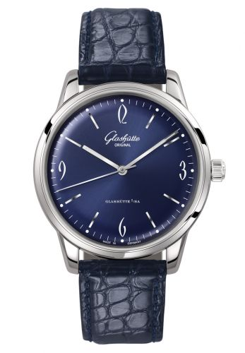 Glashütte Original 1-39-52-06-02-04 : Sixties Stainless Steel / Blue / Alligator / Pin