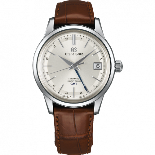 SBGJ217 : Grand Seiko Automatic Hi Beat 36000 GMT Stainless Steel / Silver / Strap