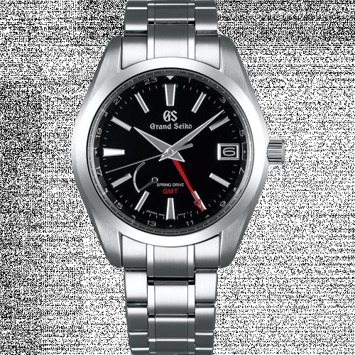 Grand Seiko SBGE211 : Spring Drive GMT Stainless Steel / Black / Bracelet