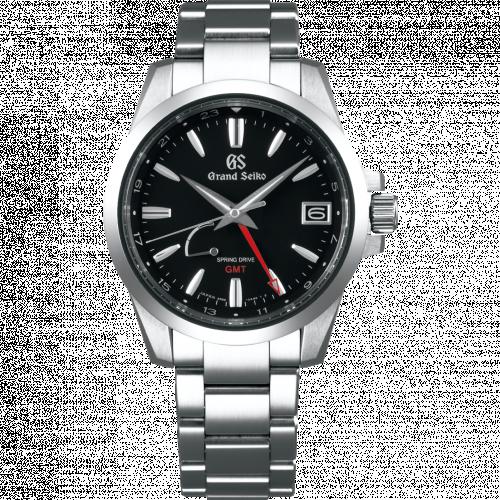 Grand Seiko SBGE213 : Spring Drive GMT Stainless Steel / Black / Bracelet