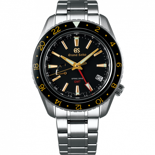 Grand Seiko SBGE215 : Spring Drive GMT Stainless Steel / Black / Bracelet