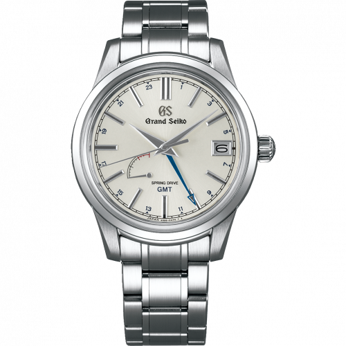 Grand Seiko SBGE225 : Spring Drive GMT Stainless Steel / Silver / Bracelet