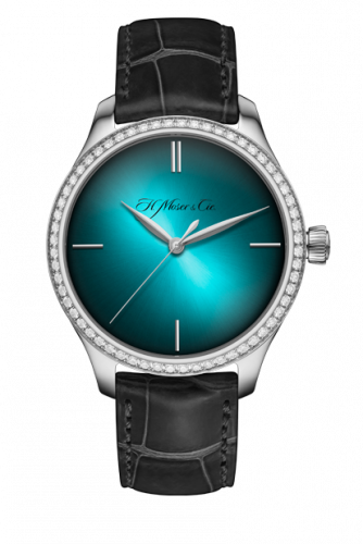 1200-1207 : H. Moser & Cie Endeavour Centre Seconds Stainless Steel / Diamond / Blue Lagoon Purity