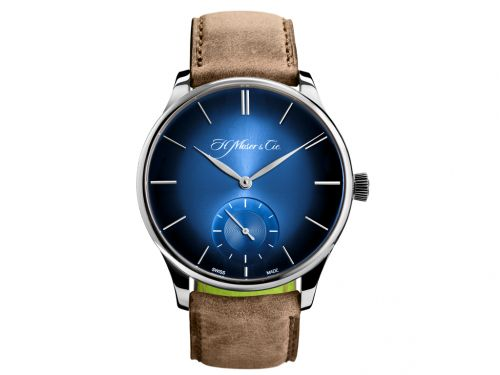 H. Moser & Cie 2327-0203 : Venturer Small Seconds XL Funky Blue, White Gold