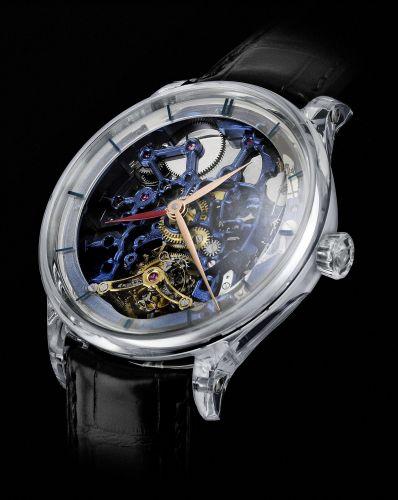 H. Moser & Cie 2803-1001 : Venturer Tourbillon Dual Time Sapphire Blue Skeleton