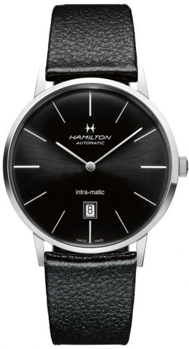 H38755731 : Hamilton Intra-Matic 42 Stainless Steel / Black / Strap