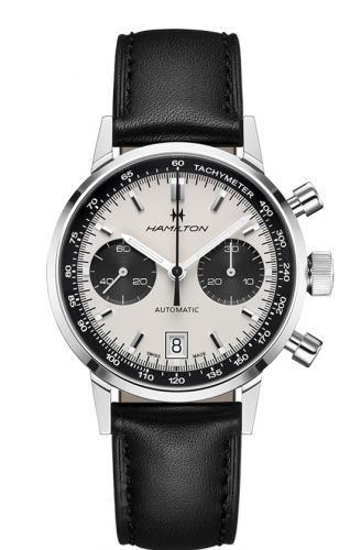 H38416711 : Hamilton Intra-Matic 68 Auto Chrono Stainless Steel / Silver / Strap